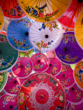 Thailand, Chiang Mai, Umbrella Display at Borsang Village Photographic Print by Steve Vidler