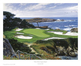 The 15th At Cypress Point Prints by Larry Dyke