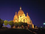 Sacre Couer at Night, Montmartre, Paris, France Photographic Print by Jon Arnold