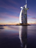 United Arab Emirates (UAE), Dubai, the Burj Dubai Hotel at Night Photographic Print by Gavin Hellier