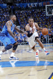 Dallas Mavericks v Oklahoma City Thunder - Game Three, Oklahoma City, OK - MAY 21: Russell Westbroo Photographic Print by Layne Murdoch