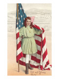 Old and Young Glory, Girl with Flag Plakater