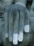Wat Si Chum / Seated Buddha / Detail of Hand, SUKhothai, Thailand Photographic Print by Steve Vidler