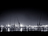 The Nile and Luxor Temple at Night Photographic Print by Clive Nolan