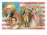 George Washington and Martha Custis Prints