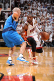 Dallas Mavericks v Miami Heat - Game One, Miami, FL - MAY 31: Dwyane Wade and Jason Kidd Photographic Print by Andrew Bernstein