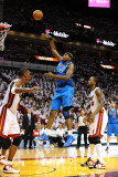 Dallas Mavericks v Miami Heat - Game One, Miami, FL - MAY 31: Brendan Haywood and Udonis Haslem Photographic Print by Garrett Ellwood
