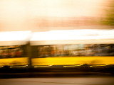 Yellow Train Photographic Print by Felipe Rodriguez