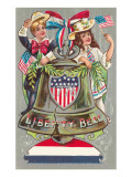 Children with Liberty Bell Posters