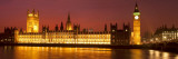 Panoramic View of Houses of Parliament at Sunset, Westminster, London, England Photographic Print by Jon Arnold