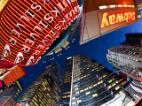 USA, New York City, Manhattan, Times Square, Neon Lights of 42nd Street Photographic Print by Gavin Hellier