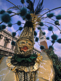Carnival Costume, Venice, Italy Photographic Print by Walter Bibikow