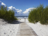 Boardwalk Leading to Beach, Liepaja, Latvia Photographic Print by Ian Trower