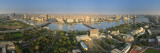 Egypt, Cairo, River Nile and City Skyline Viewed from Cairo Tower, Panoramic View Fotografisk trykk av Michele Falzone