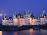 Chambord Castle and Closson River, Chambord, Loire Valley, France Photographic Print by Steve Vidler