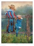 Cowboy Up Affiches par June Dudley