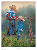 Cowboy Up Prints by June Dudley