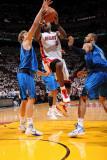 Dallas Mavericks v Miami Heat - Game One, Miami, FL - MAY 31: LeBron James, Dirk Nowitzki and Tyson Photographic Print by Andrew Bernstein