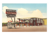 Pappy's Food Snacks, Roadside Retro Art