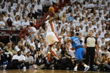 Dallas Mavericks v Miami Heat - Game One, Miami, FL - MAY 31: LeBron James and DeShawn Stevenson Photographic Print by Andrew Bernstein