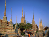 Wat Pho / Chedis / Monk, Bangkok, Thailand Photographic Print by Steve Vidler