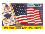 Ad for Flag Kit, Yours Free Posters