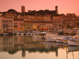 France, Provence-Alpes-Cote D'Azur, Cannes, Old Town Le Suquet, Vieux Port (Old Harbour) Photographic Print by Alan Copson
