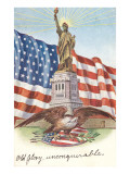 Statue of Liberty with Patriotic Motifs Plakater