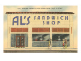 Al's Sandwich Shop Art