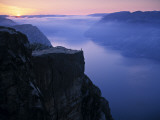 Preikestolen (Pulpit Rock) at Sunset, Lysefjorden, Norway Photographic Print by Doug Pearson