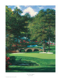 The 11th At Augusta Print by Larry Dyke