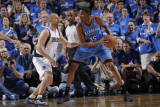 Oklahoma City Thunder v Dallas Mavericks - Game Five, Dallas, TX - MAY 25: Kevin Durant and Jason K Photographic Print by Glenn James