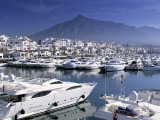 Yachts in Harbour, Puerto Banus, Marbella, Andalucia, Spain Photographic Print by Gavin Hellier