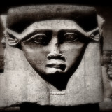 Statue of the Egyptian Goddess Hathor Photographic Print by Clive Nolan