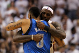 Dallas Mavericks v Miami Heat - Game One, Miami, FL - MAY 31: LeBron James and Shawn Marion Lámina fotográfica por Ronald Martinez