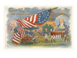Surrender of Burgoyne at Saratoga, Flag Posters