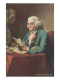Benjamin Franklin Reading Prints