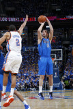 Dallas Mavericks v Oklahoma City Thunder - Game Three, Oklahoma City, OK - MAY 21: Peja Stojakovic  Fotografisk tryk af Layne Murdoch