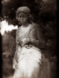 A Female Statue in Cemetery Photographic Print by Clive Nolan