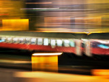 Red Blur Photographic Print by Felipe Rodriguez