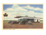 54 Drive-In, Roadside Retro Prints