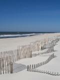 USA, New York, Long Island, the Hamptons, Westhampton Beach, Beach Erosion Fence Photographic Print by Walter Bibikow
