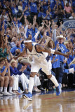 Oklahoma City Thunder v Dallas Mavericks - Game Five, Dallas, TX - MAY 25: Jason Terry Photographic Print by Glenn James