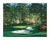 The 10th At Augusta Prints by Larry Dyke