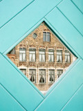 Traditional Building Reflected in the Window, Bruges, Belgium Photographic Print by Nadia Isakova