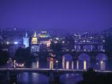 River Vltava and Charles Bridge, Prague, Czech Republic Photographic Print by Jon Arnold