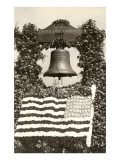 Liberty Bell with Flag of Flowers Posters