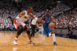 Dallas Mavericks v Miami Heat - Game One, Miami, FL - MAY 31: Jason Terry and Chris Bosh Photographic Print by Andrew Bernstein