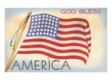 God Bless America, Flag Kunst