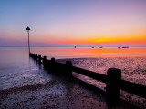 UK, England, Essex, Thames Estuary, Southend, Shoeburyness at Sunset Photographic Print by Alan Copson